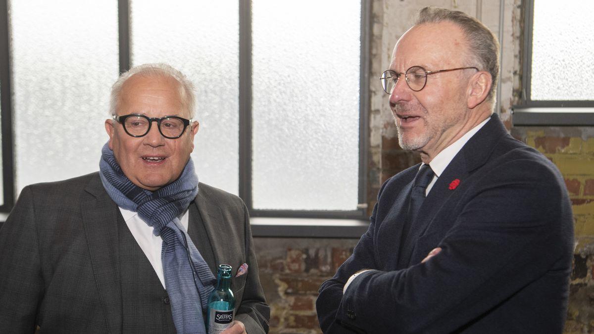 DFB-Präsident Fritz Keller (l.) und Karl-Heinz Rummenigge