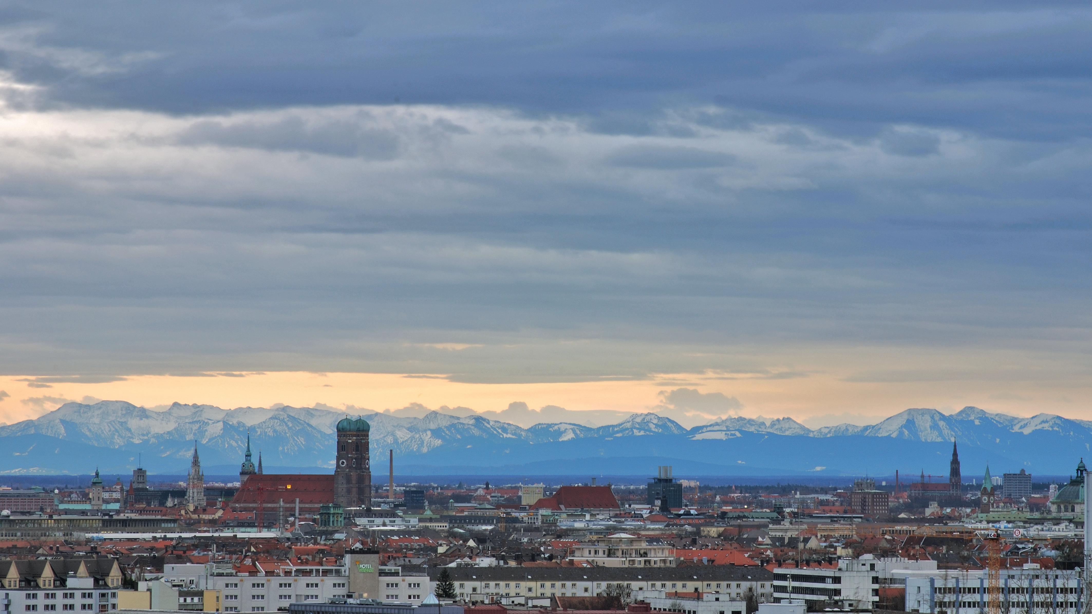 München bei Föhn.