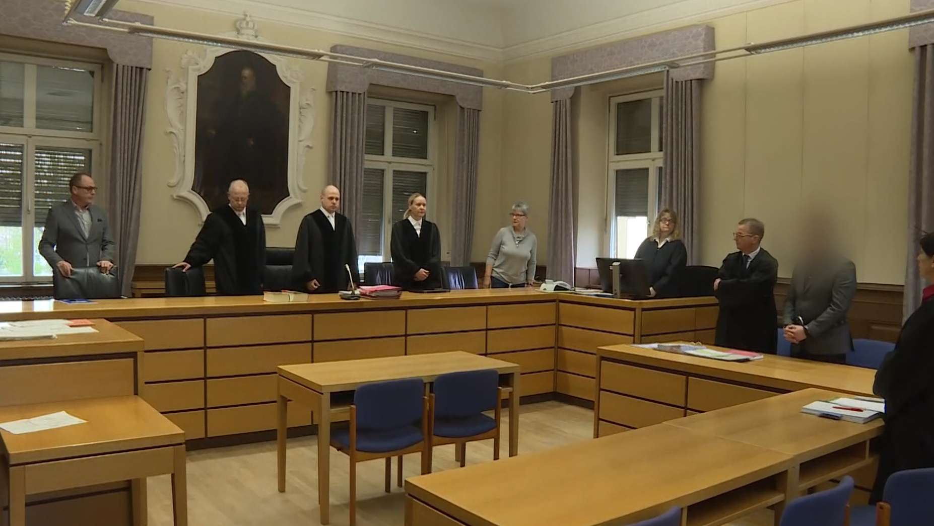 Prozess wegen versuchten Mordes in der Psychiatrie am Landgericht Schweinfurt
