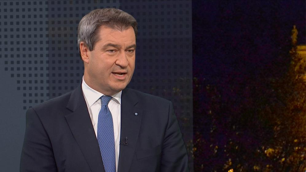 Ministerpräsident Söder im Rundschau Magazin | Bild:BR
