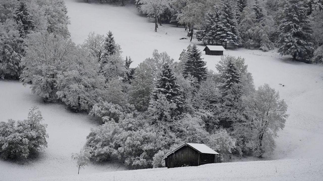 Schnee in Bayern