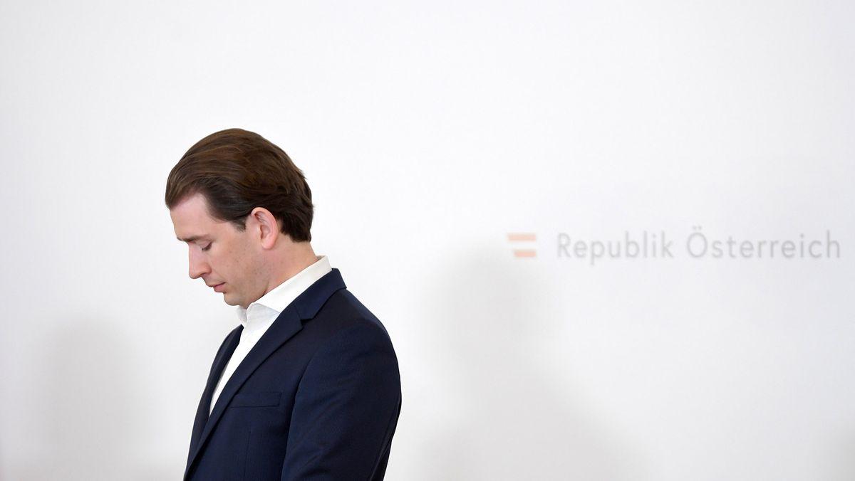 Der österreichische Bundeskanzler Sebastian Kurz (ÖVP) bei einer Pressekonferenz im Juni 2021.