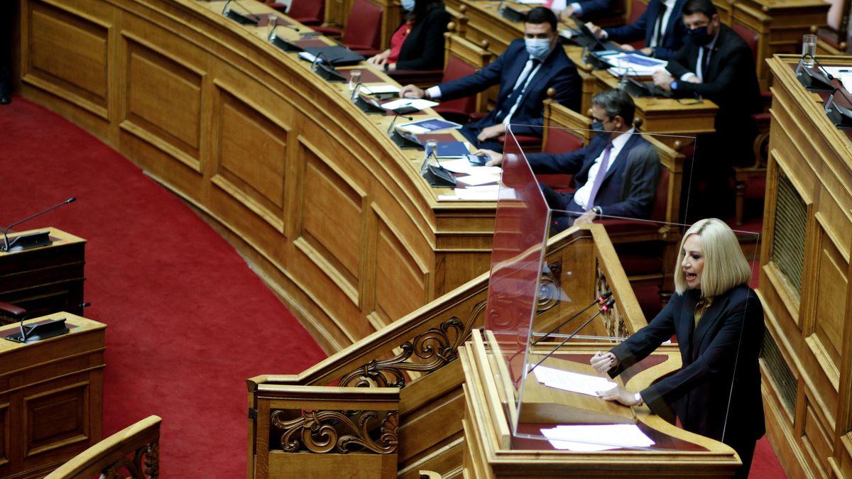 Parlamentarische Debatte im griechischen Abgeordnetenhaus.