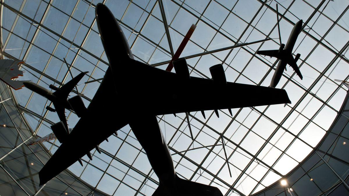 Flugzeuge am Frankfurt Flughafen