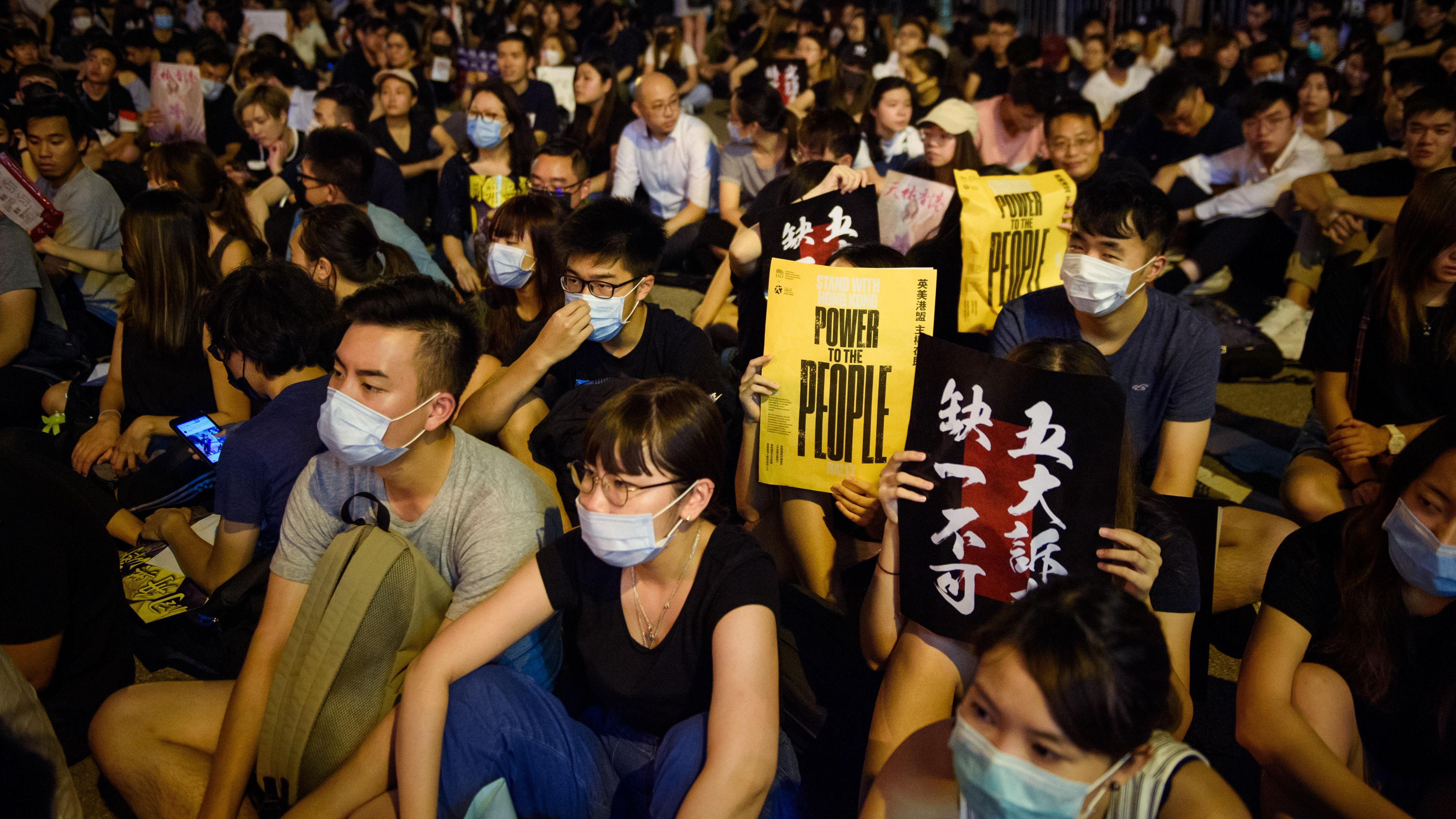 Protestkundgebung in Hongkong