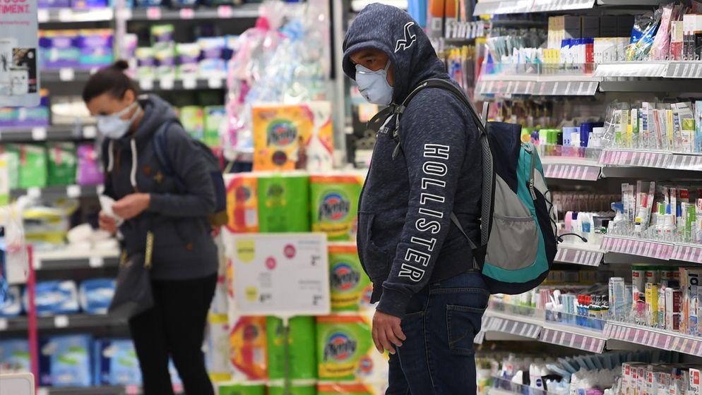 In Österreich gilt in Kürze Schutzmaskenpflicht in Supermärkten   Bild:picture alliance/APA/picturedesk.com