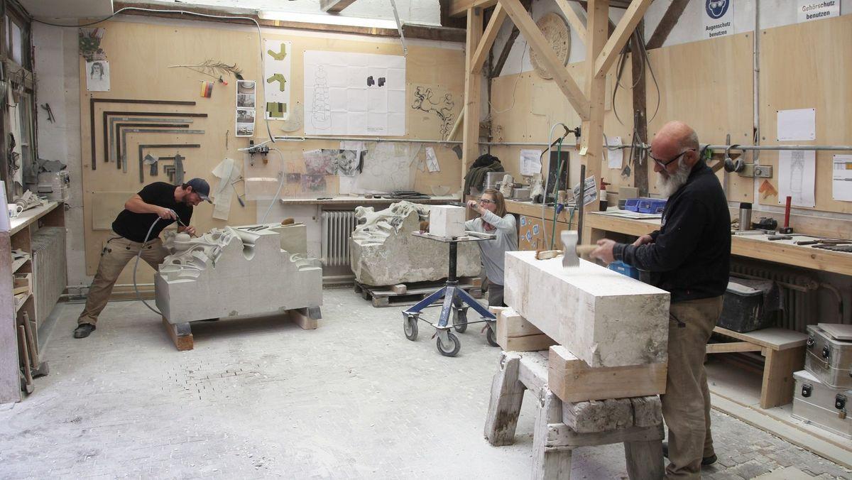Ein Blick in die Werkstatt der Dombauhütte Passau