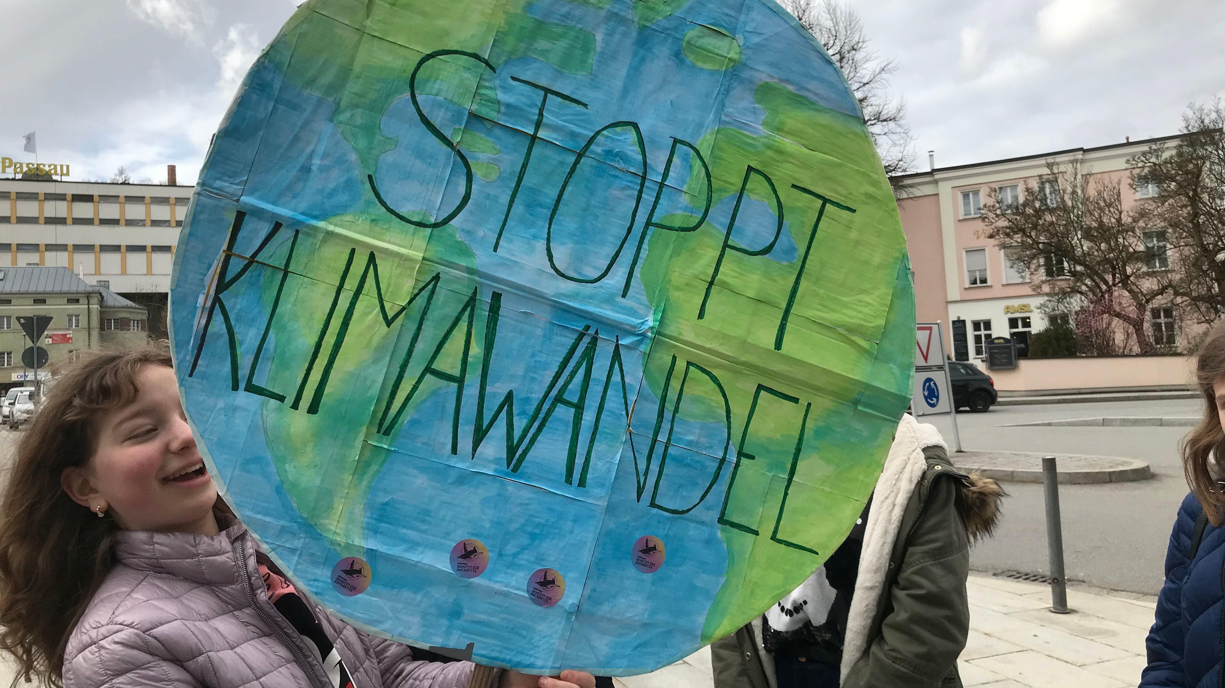 Schüler-Demo für Klimaschutz in Passau