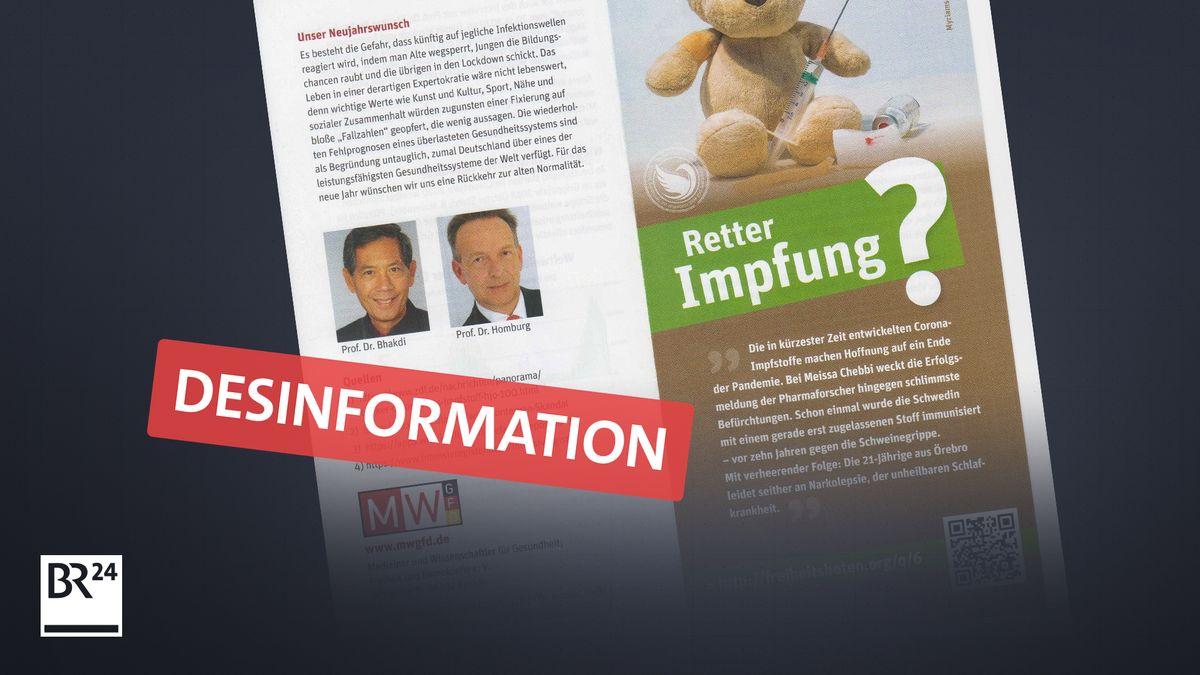 """Flyer der """"MWGFD"""" mit Falschbehauptungen zu Corona-Impfstoffen"""