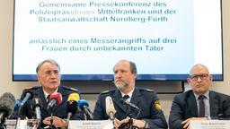 Roman Fertinger (l), Polizeipräsident von Mittelfranken, sprach von einer Zunahme von Messerattacken in Nürnberg | Bild:Daniel Karmann, dpa
