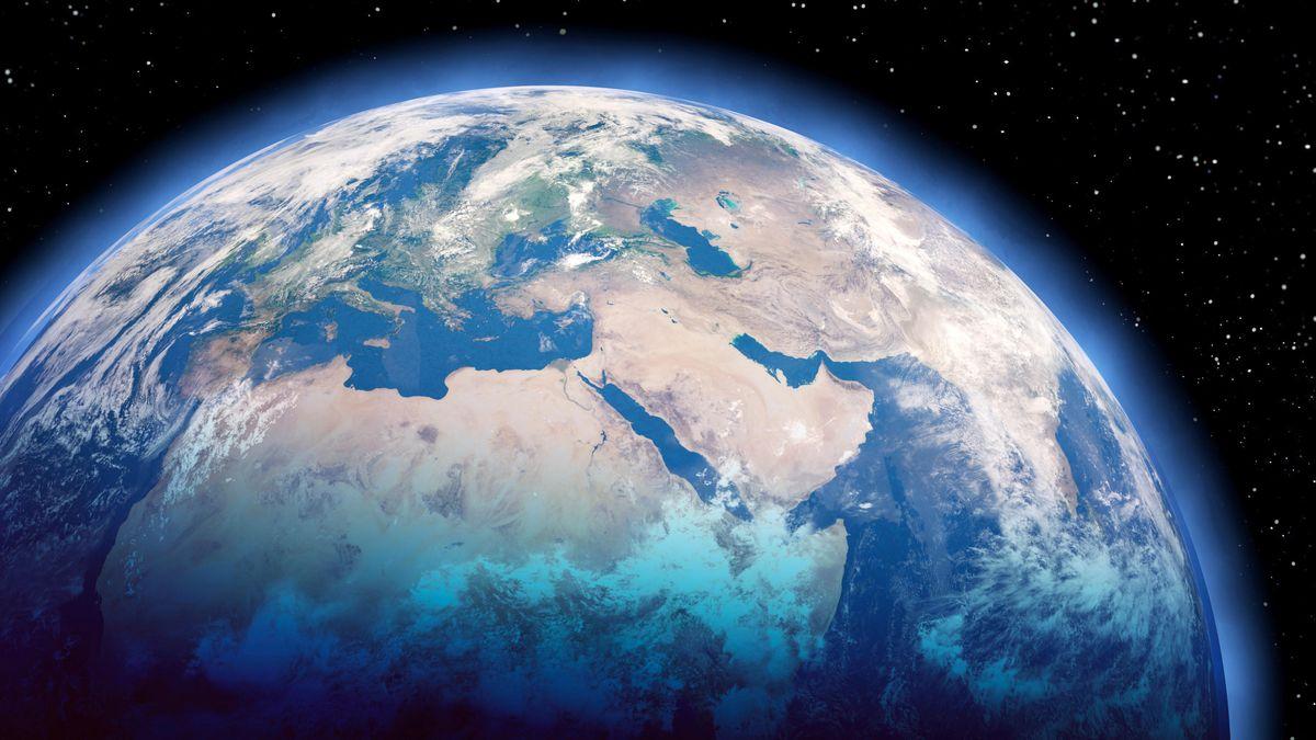 Blick auf den Erdball aus der Atmosphäre (Symbolbild)