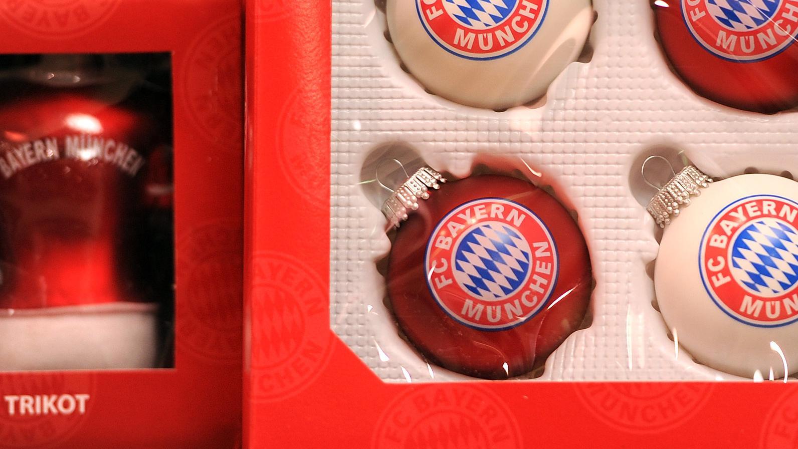 FC Bayern-Weihnachtskugeln