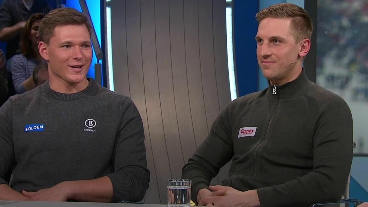 Skirennläufer Thomas Dreßen und Josef Ferstl