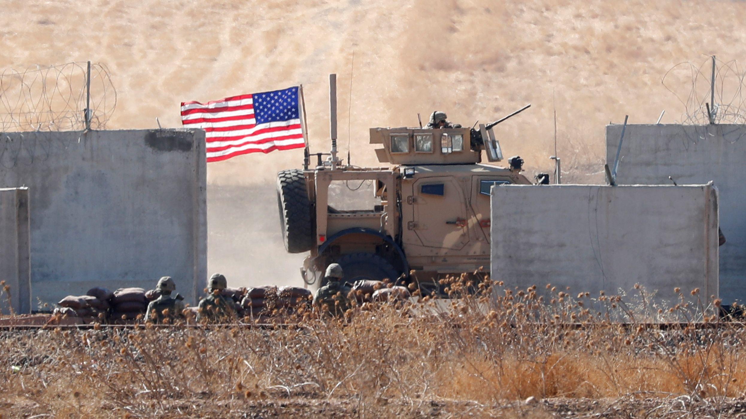 Amerikanische Truppen an der türkisch-syrischen Grenze