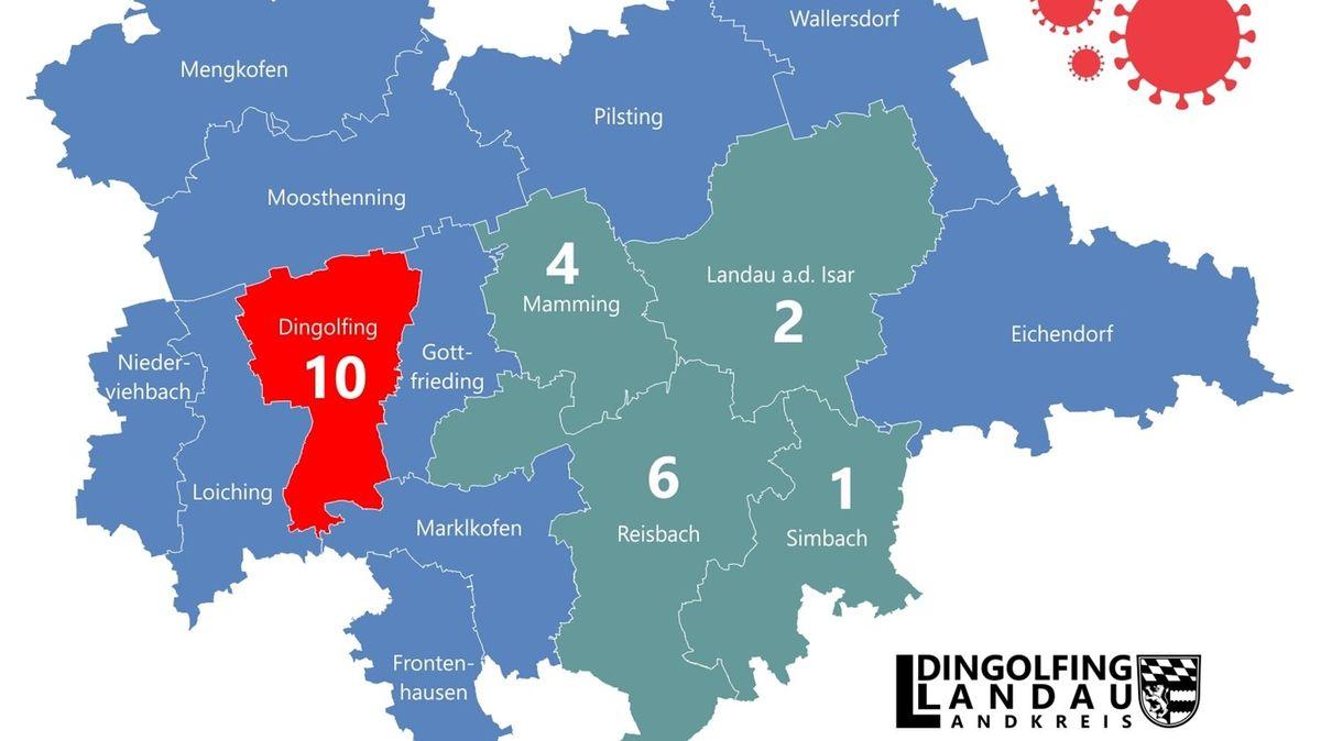 Corona-Fallzahlen im Landkreis Dingolfing-Landau