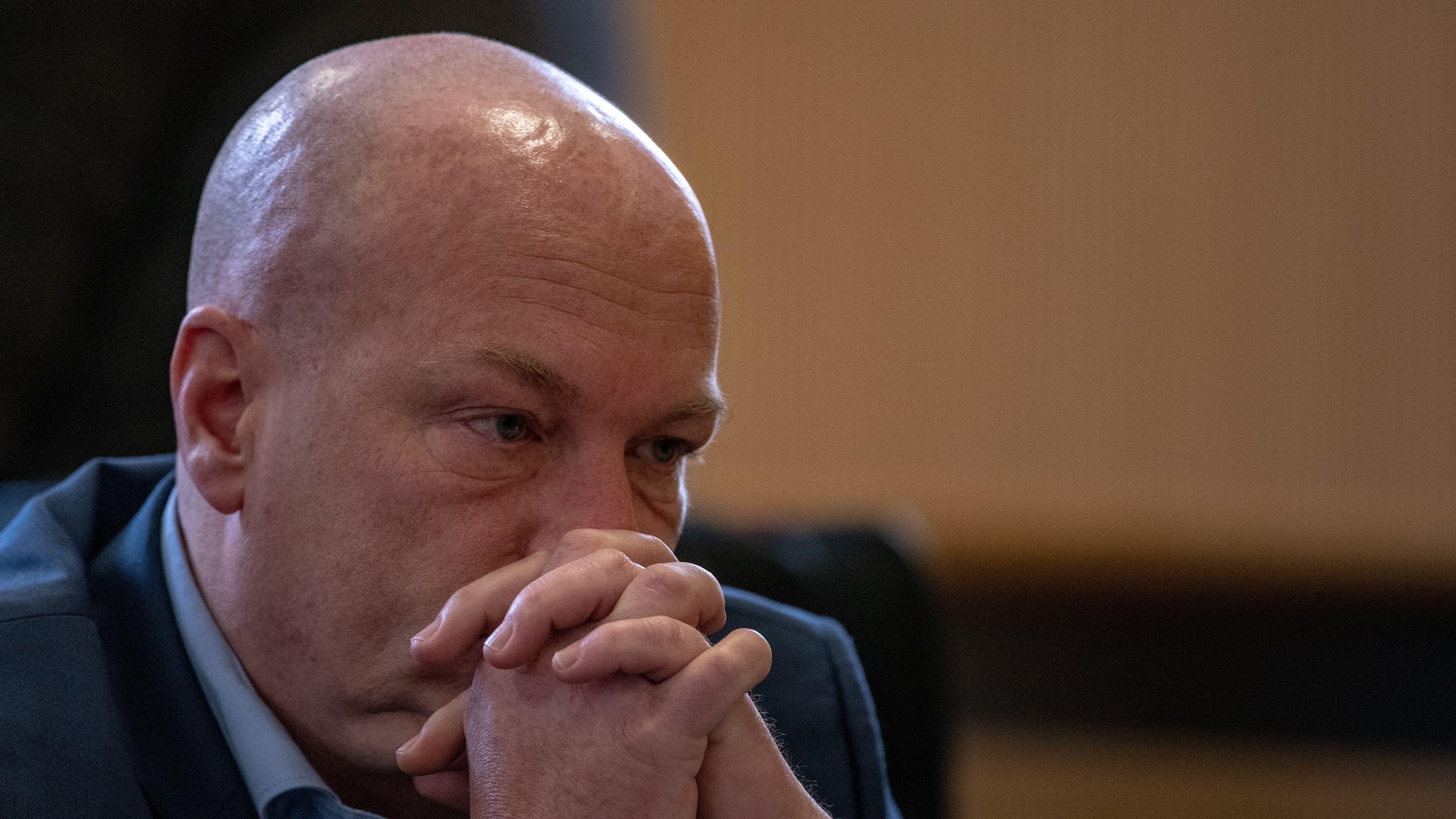 Der suspendierte Regensburger OB Joachim Wolbergs: Heute haben er und die anderen Angeklagten das letze Wort im Korruptionsprozess.