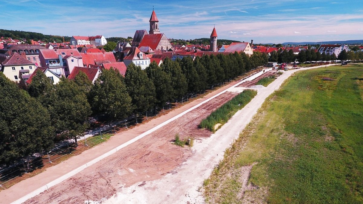 Drohnenfoto des Panoramawegs in Gunzenhausen