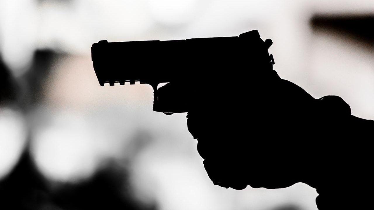 Die Silhouette einer Pistole (Symbolbild)