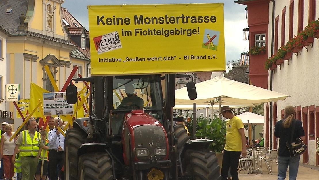 Demo in Marktredwitz: Gegner der geplanten Stromtrasse zeigen ihren Unmut