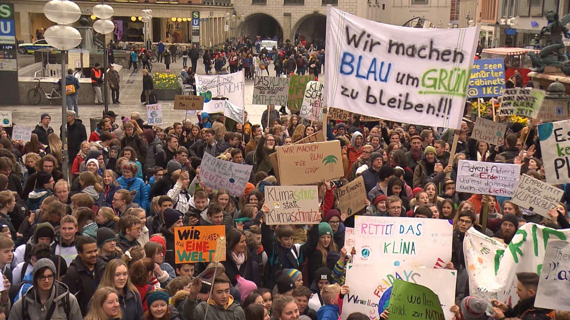 Schülerdemo in München