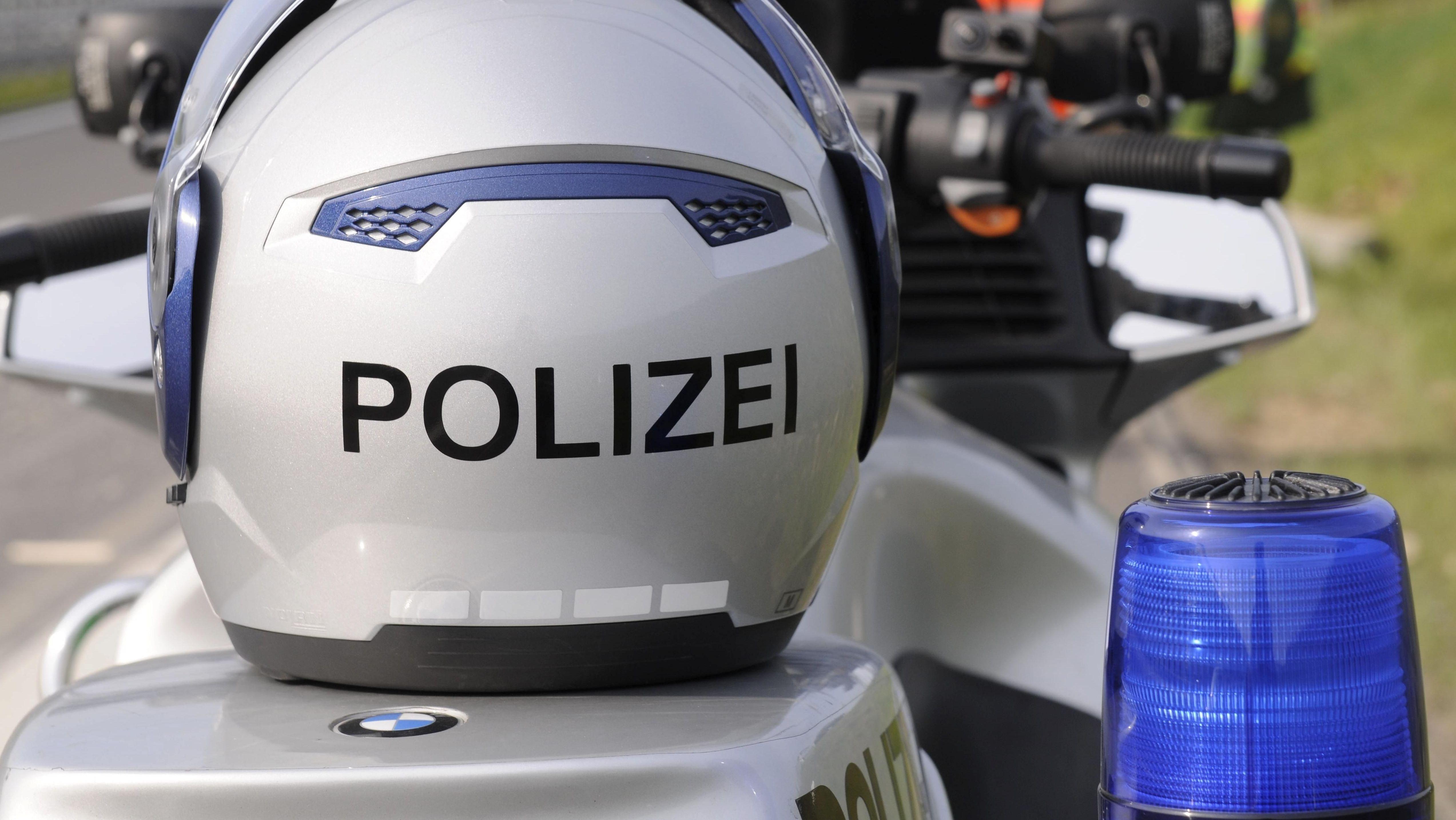 Motorrad-Kontrolle der Polizei