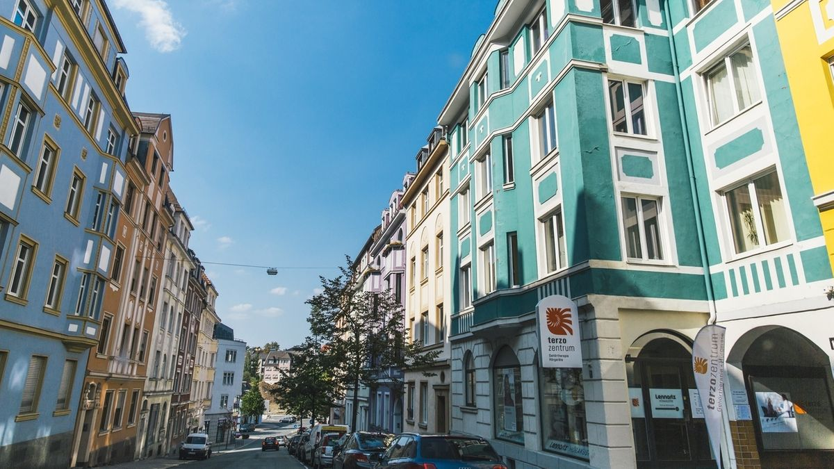 Ansicht einer Straße in der Hofer Innenstadt