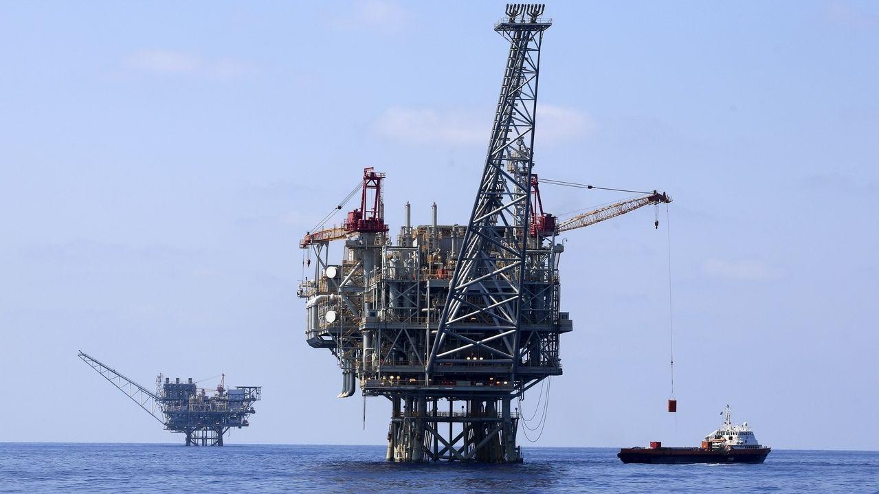 Gasplattform vor der Küste Israels