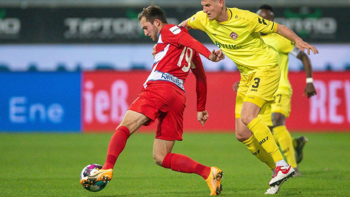 Spielszene aus der Partie Heidenheim gegen Würzburg