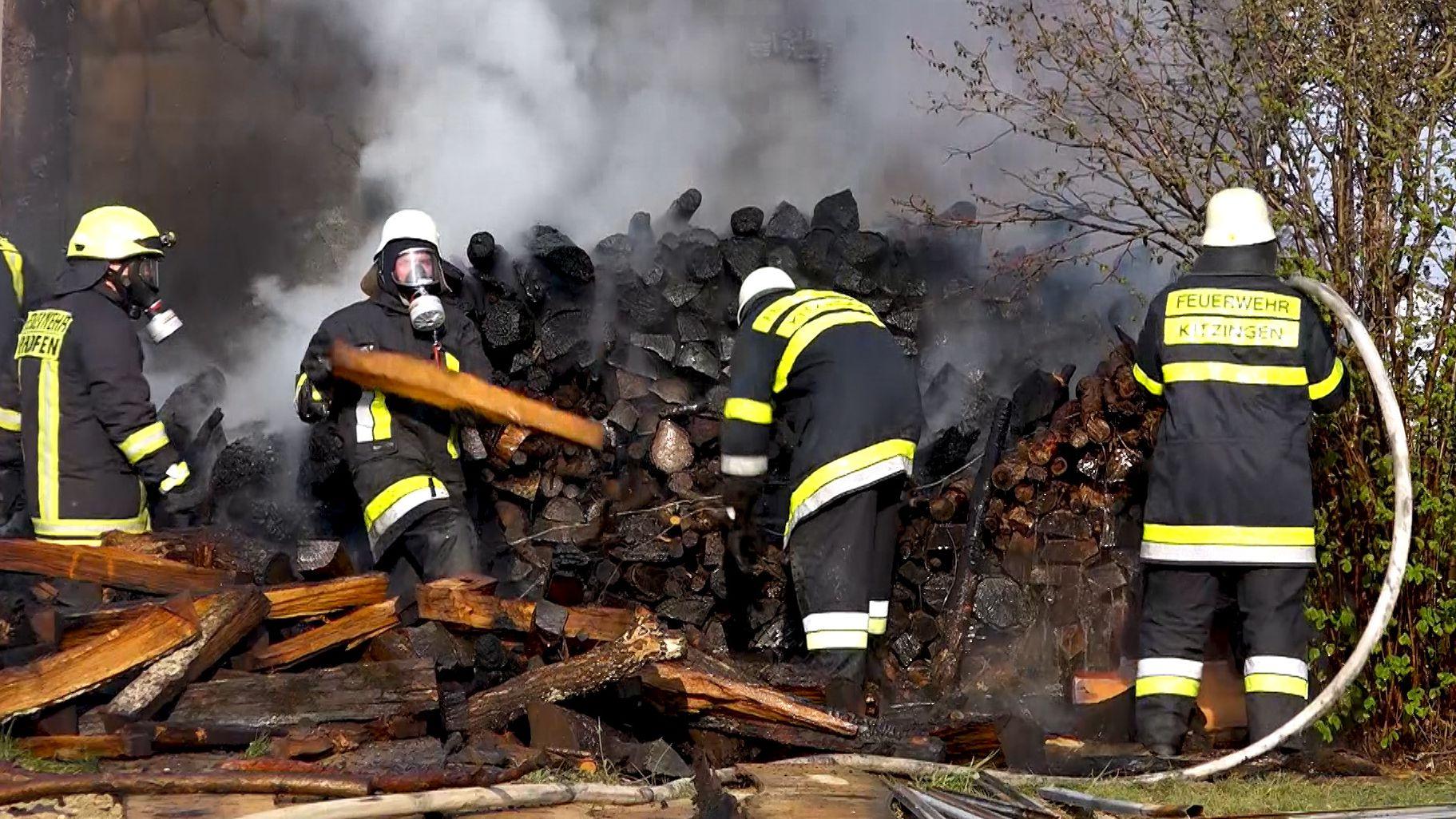 Scheunenbrand in Hoheim