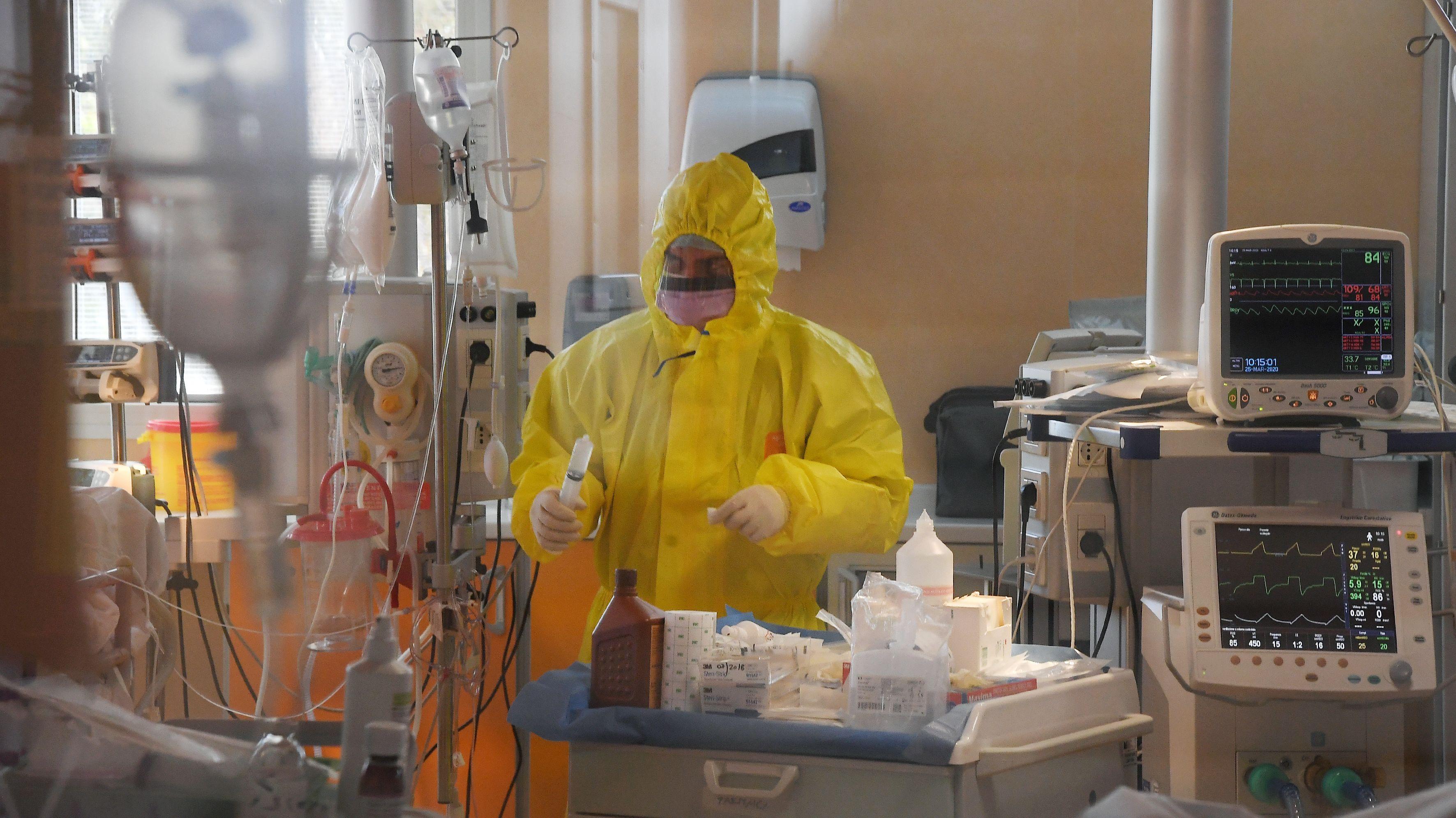 Intensivstation des Casal Palocco Krankenhauses in Rom.