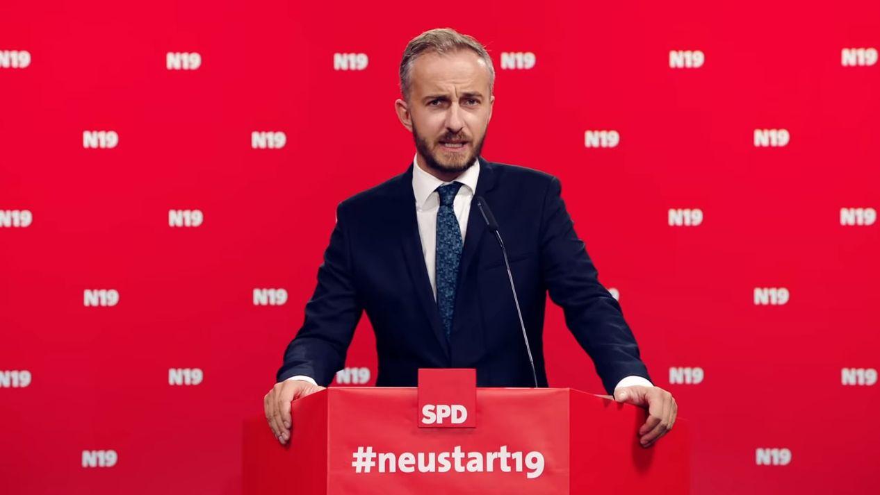 Jan Böhmermann hat seine Bewerbungsrede zum SPD-Chef schon auf Youtube gepostet