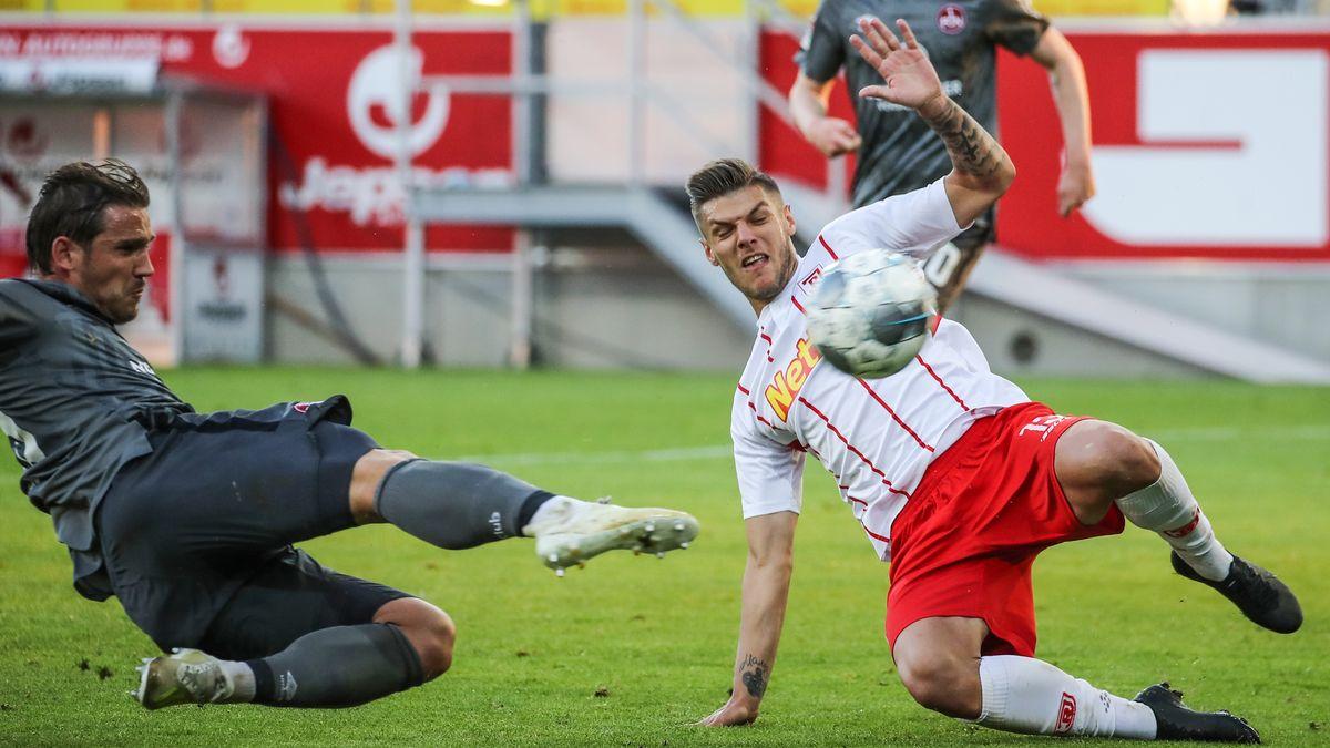 Spielszene SSV Jahn Regensburg - 1. FC Nürnberg