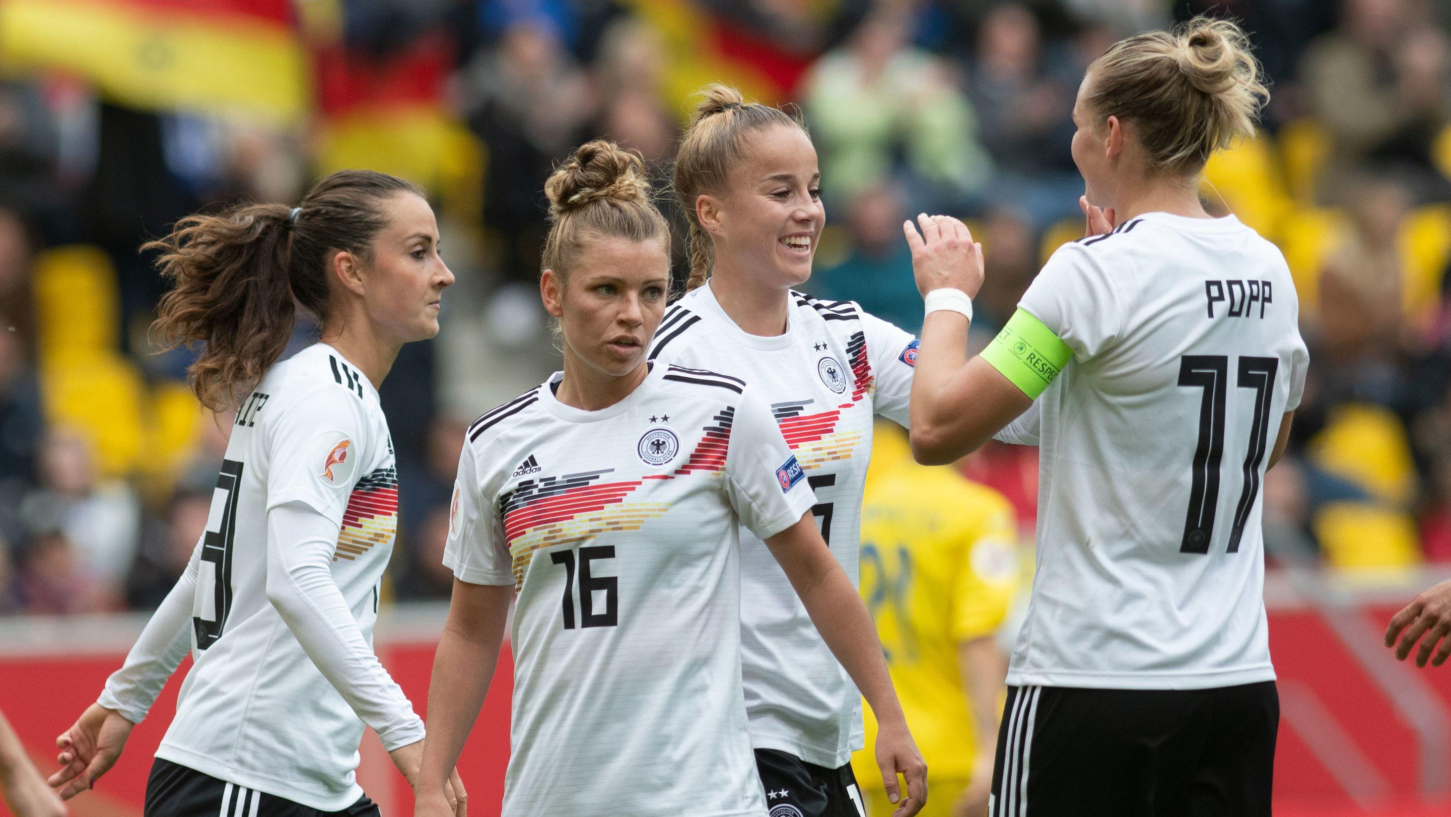 Jubel bei der Frauen-Nationalmannschaft