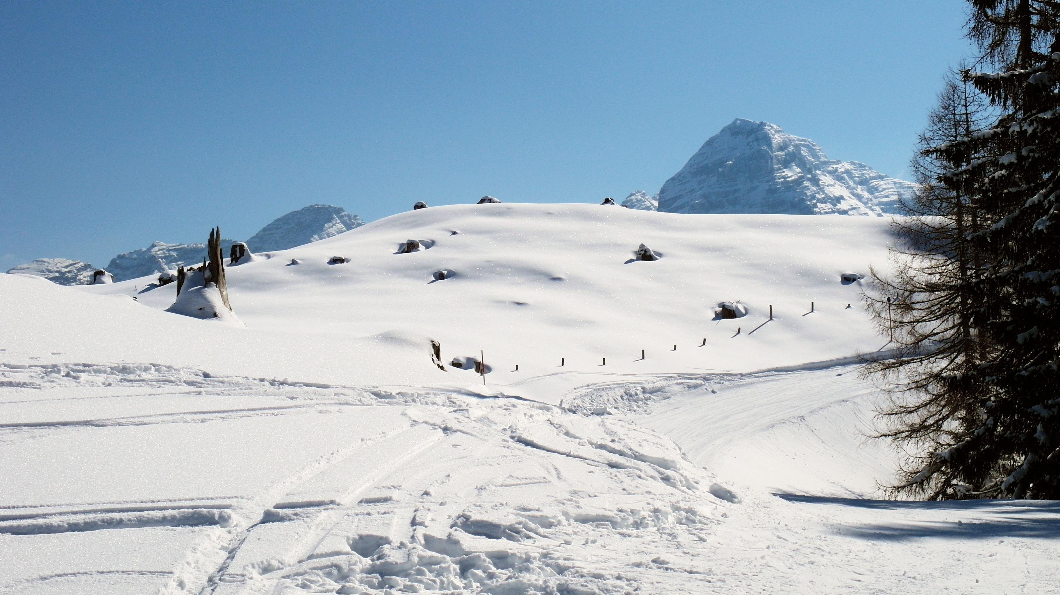 Symbolbild: Schneelandschaft mit Berge