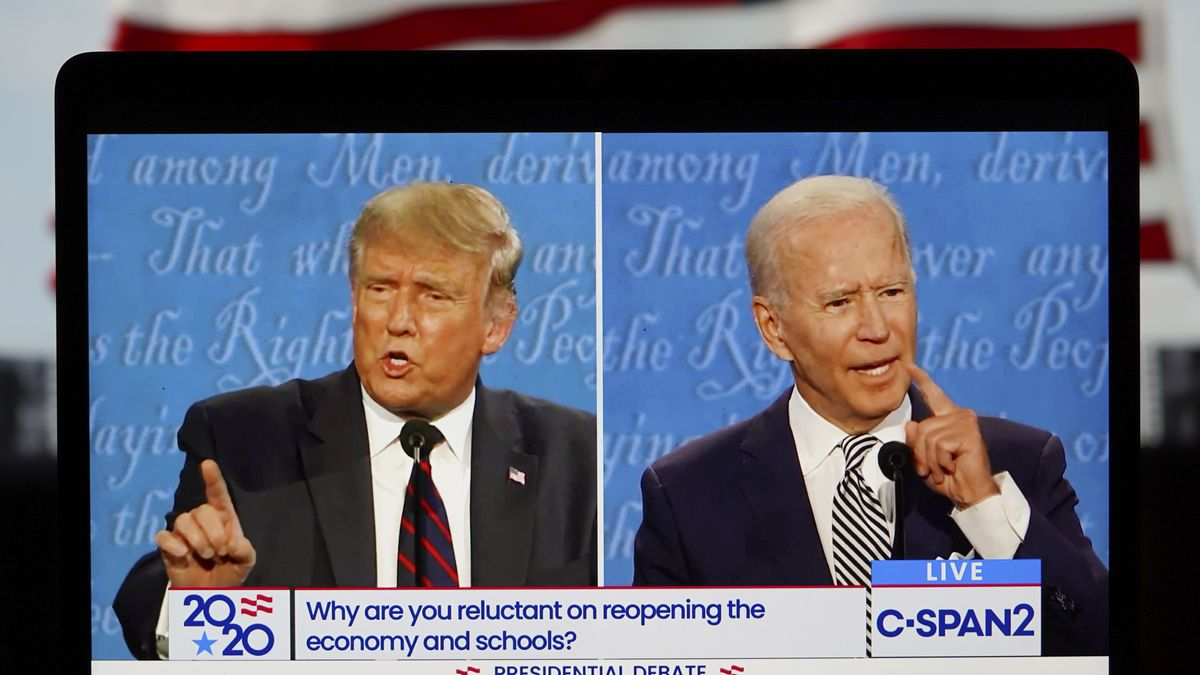 Trump und Biden beim ersten TV-Duell