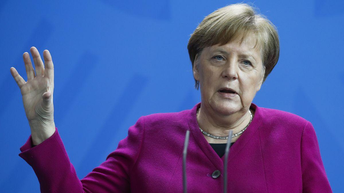 09.04.2020, Berlin: Bundeskanzlerin Angela Merkel (CDU) gibt eine Pressekonferenz.  Kanzlerin Angela Merkel (CDU) sieht nach den neuesten Infektionszahlen in der Corona-Krise «Anlass zu vorsichtiger Hoffnung.