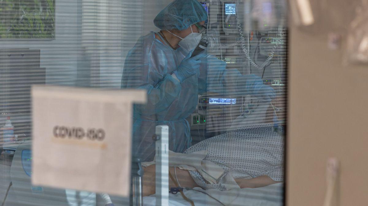 Ein Corona-Patient auf der Intensivstation (Symbolbild)