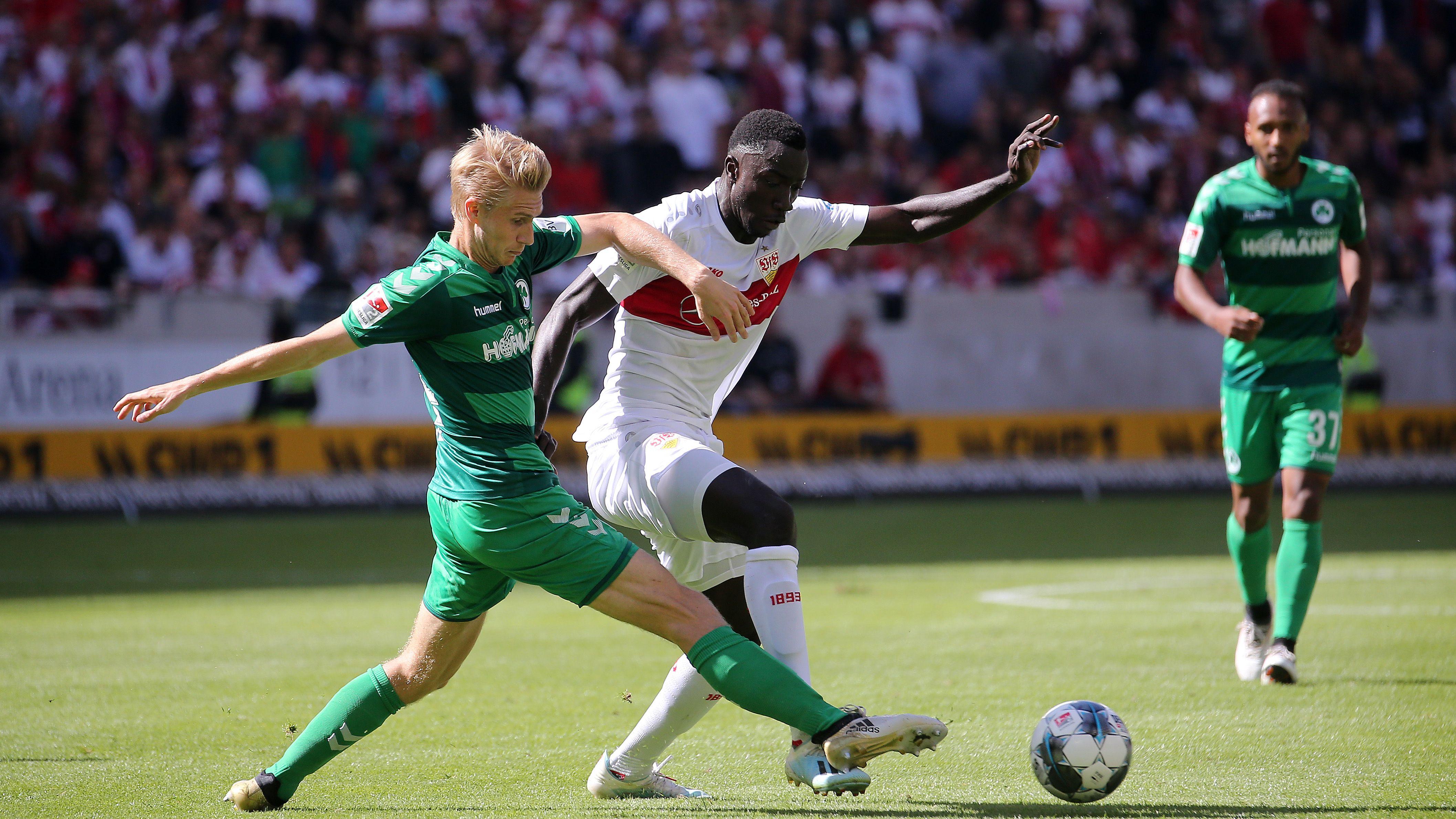 Spielszene VfB Stuttgart - SpVgg Greuther Fürth