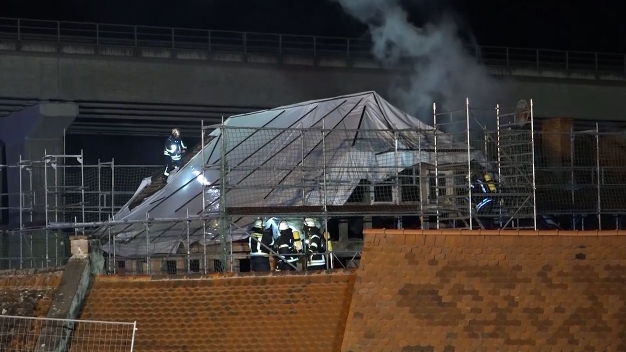 Dachstuhlbrand in Wörth am Main