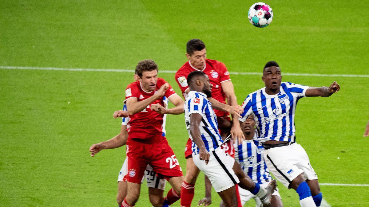 Spielszene aus der Partie FC Bayern München gegen Hertha BSC Berlin