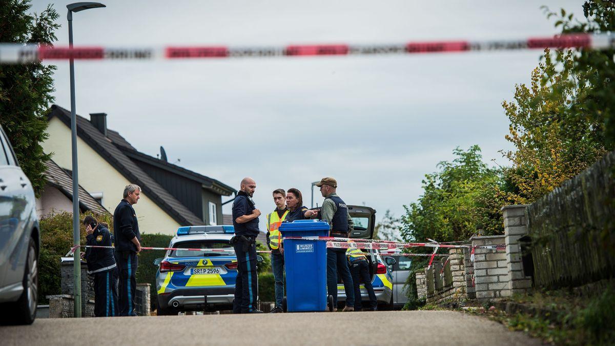 Polizisten hatten den Einsatzort in einem Wohngebiet abgesperrt