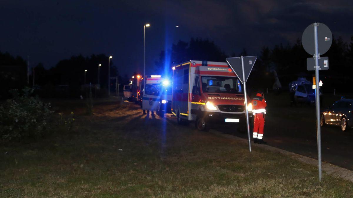 Mehr als 170 Helfer von Feuerwehren und Santiätsdiensten, Notärzte und Bergretter waren in Grafenwöhr im Einsatz.