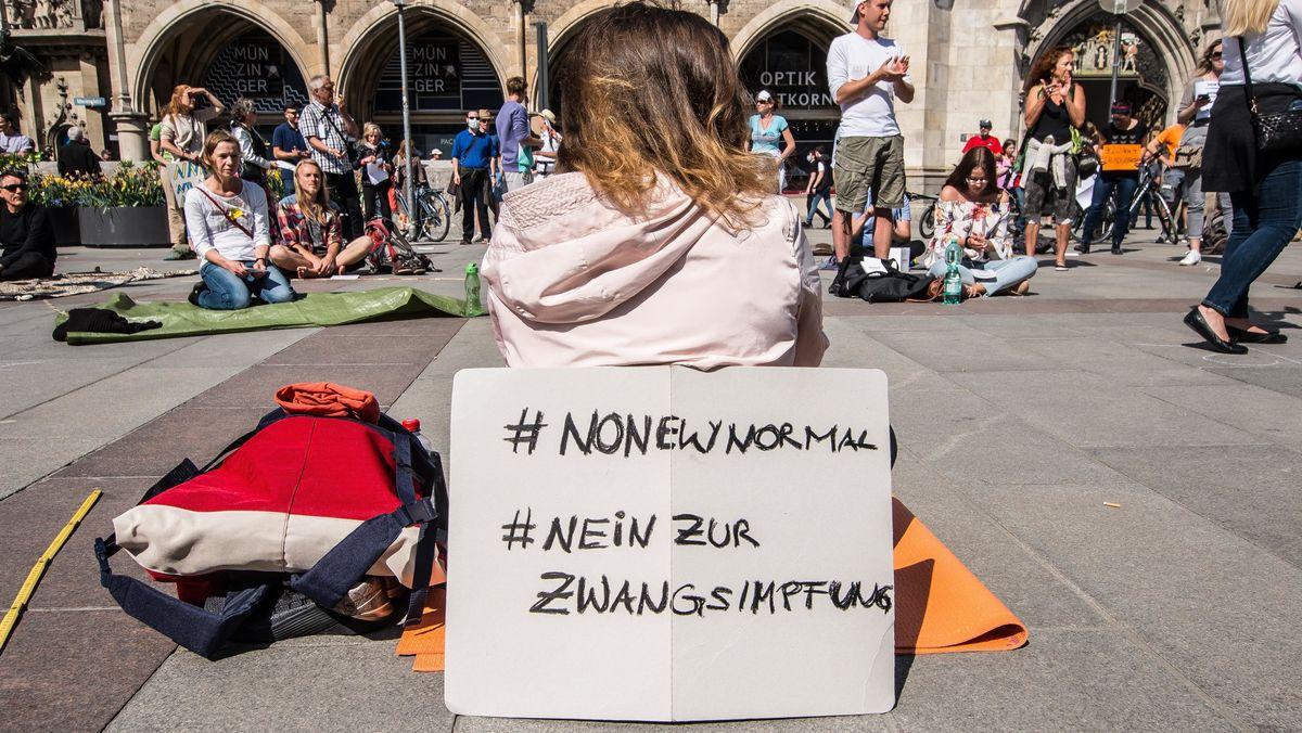 Impfgegner-Protest in München.