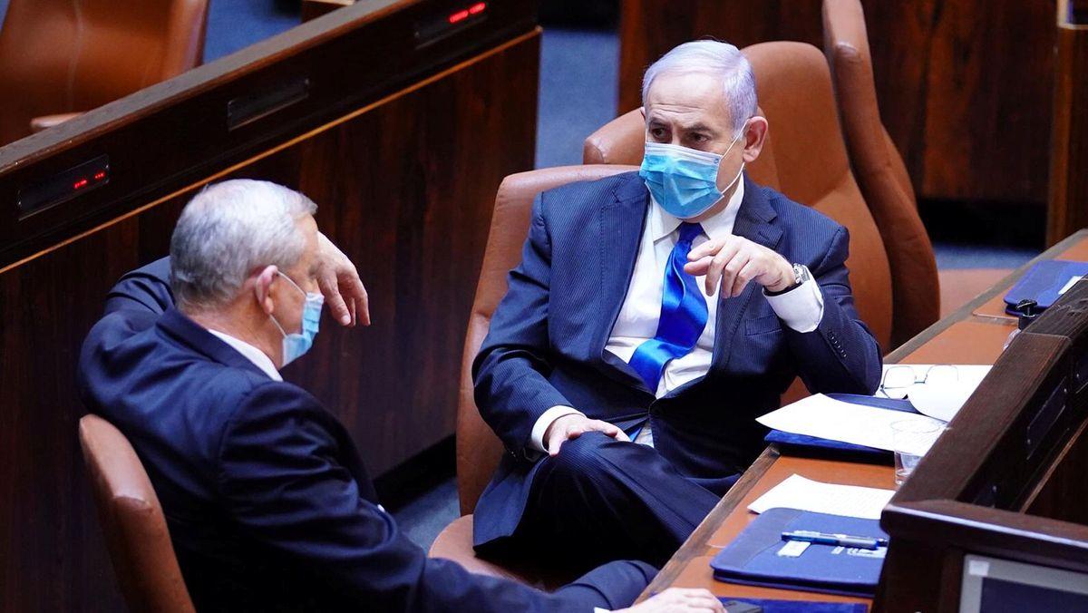 Netanjahu und Gantz in der Knesset