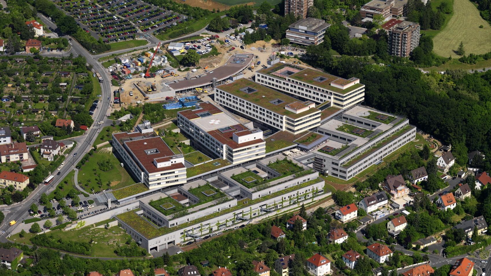Bereich der Würzburger Uni-Klinik