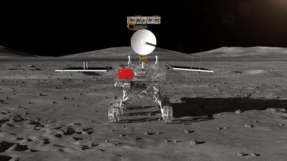 Animation Rover der chinesischen Mondmission Chang'e 4
