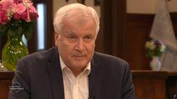 Bundesinnenminister Horst Seehofer (CSU) beim BR Sonntags-Stammtisch | Bild:BR