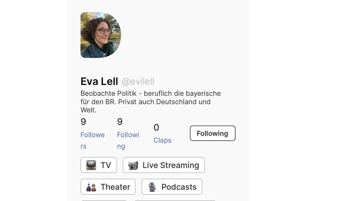 """Reporterin und Moderatorin Eva Lell hat auf """"Dive"""" noch ein sehr frisches Profil"""