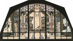Koloman Moser, Entwurf für das Südfenster der Kirche St. Leopold am Steinhof, 1905/06   Bild:MAK/Georg Mayer