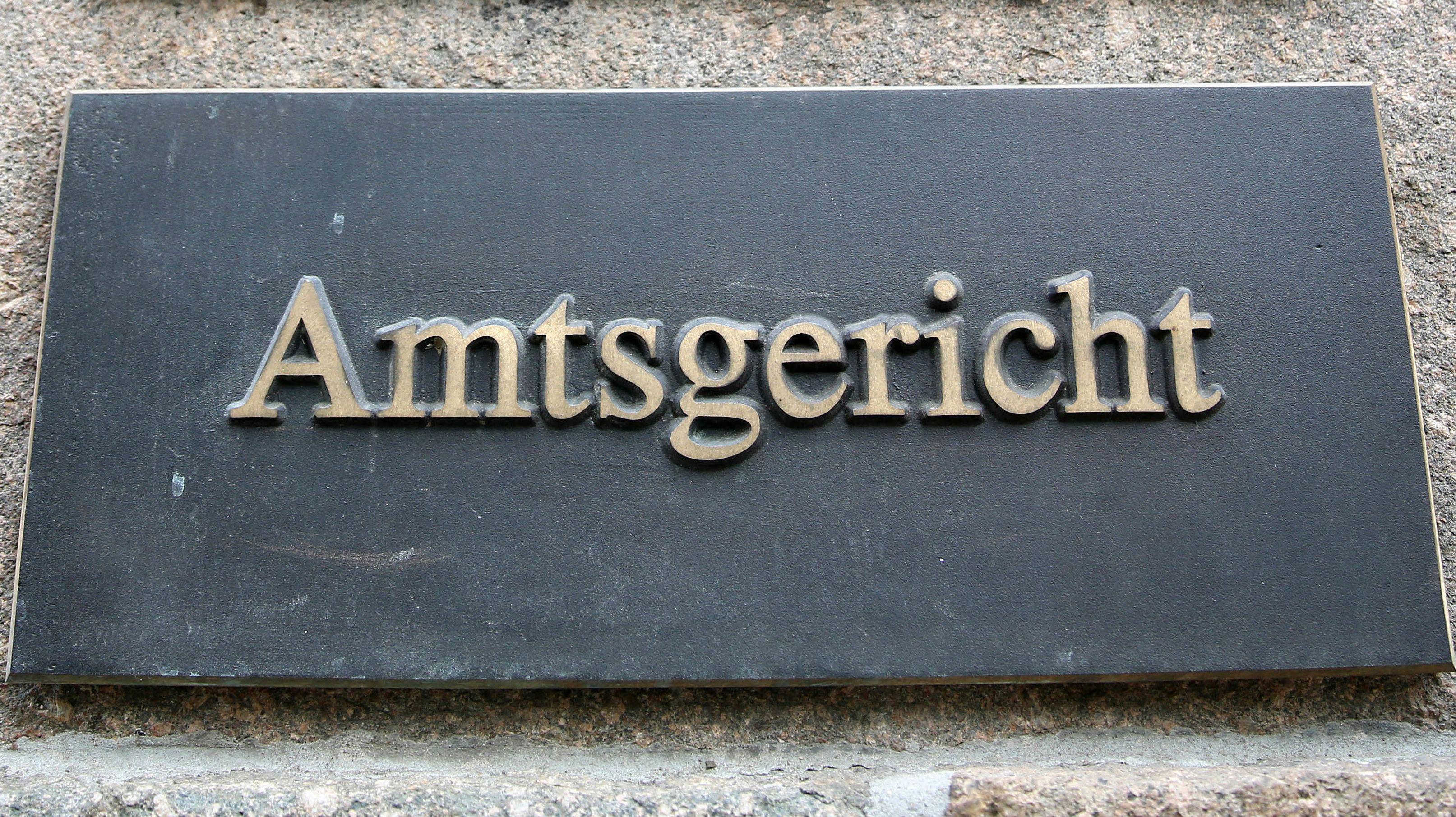 "Tafel ""Amtsgericht"" (Symbolbild)"